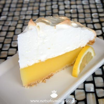 Perfect lemon meringue pie - she put a lot of research into this so you don't have to!