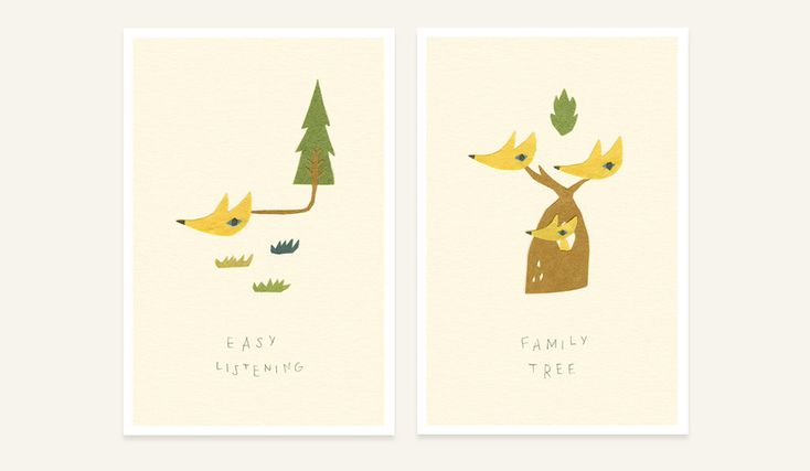 Very cute, and simply lovely paper illustrations.