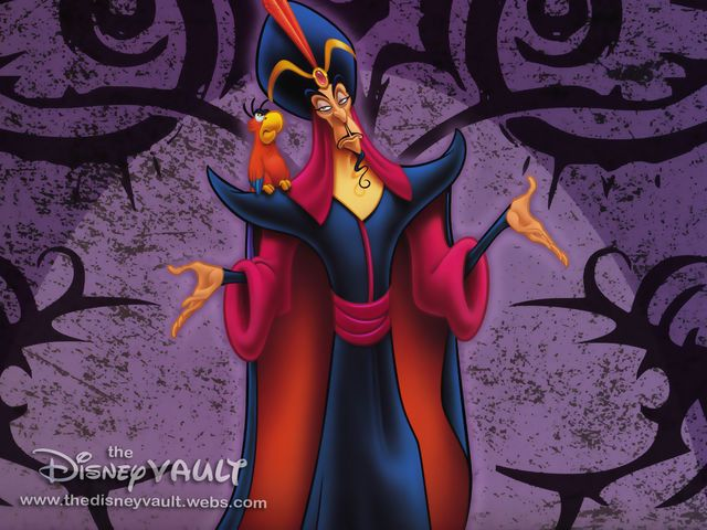 Jafar is the villain from Aladdin.