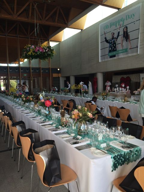 Beautiful table set up at the National Portrait Gallery for #ohhappydaycbr. #npgevents #CBR #canberraevents