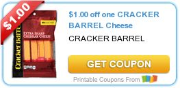 $1.00 off one CRACKER BARREL Cheese