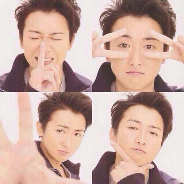 Ohno Satoshi being cute.