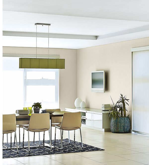 Coffered ceilings add visual interest and separate different living spaces.