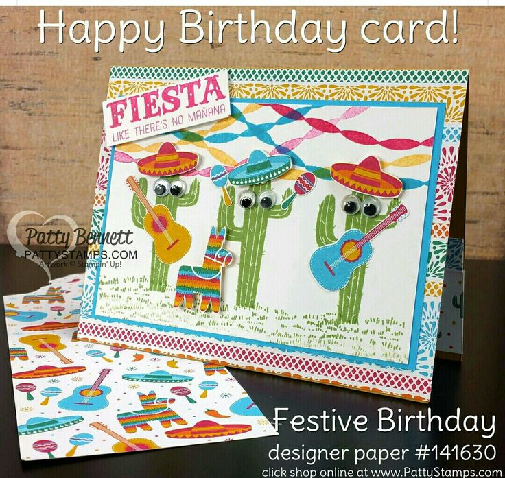 36 Best Images About Festive Birthday Designer Series Paper On Pinterest