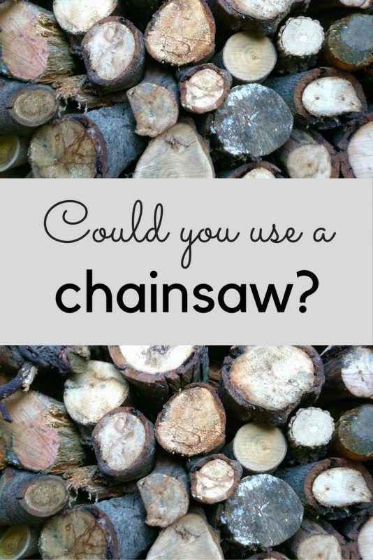 Is it time to change your mind about a chainsaw?