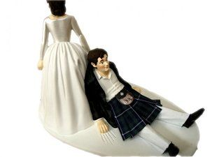 Scottish wedding cake topper (Brave)