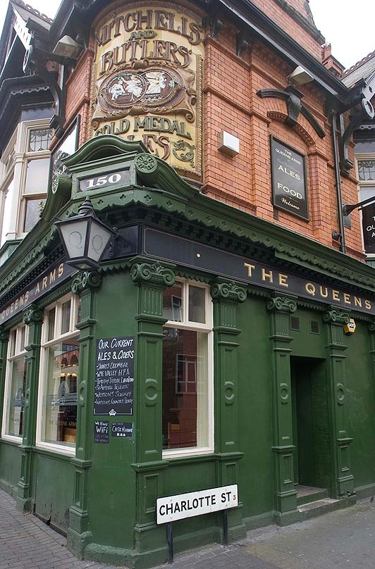 The Queens Arms pub - Charlotte Street - Birmingham, West Midlands B3 UK