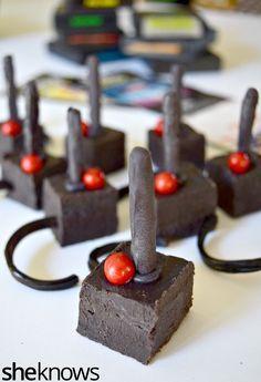 Atari Joy Stick Fudge!! Fun Food Recipe idea for an 80's Party.