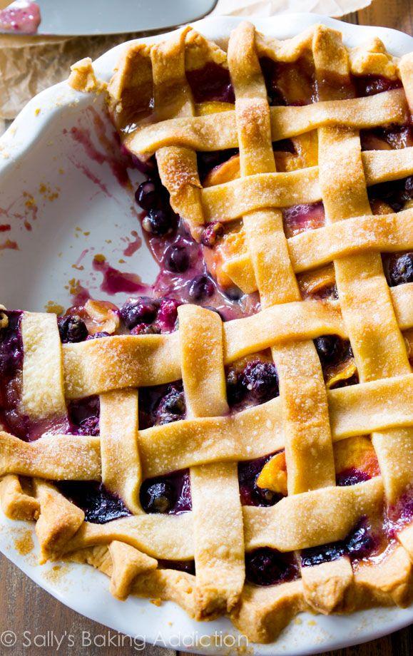 Sallys baking addiction, Blueberries and Peaches on Pinterest