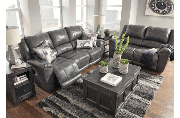 Persiphone Charcoal Reclining Living Room Set From Ashley