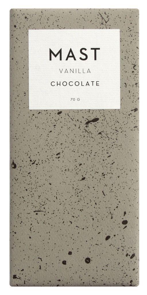 Vanilla Bar Mast Brothers chocolate bar packaging
