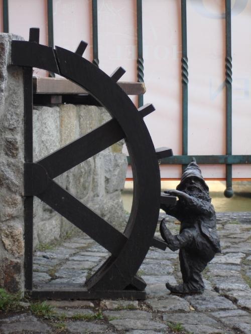 Dwarf spinning a mill!, Wrocław, Poland