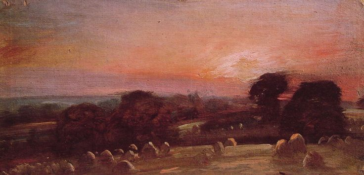 A Hayfield near East Bergholt at Sunset, 1812: Largest John, Street Art, Sunsets John, 1812, Constabl Resources, Www John Constabl Org, Constabl View, East Bergholt, John Costabl