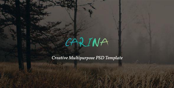 Carina - Creative Multipurpose PSD Template