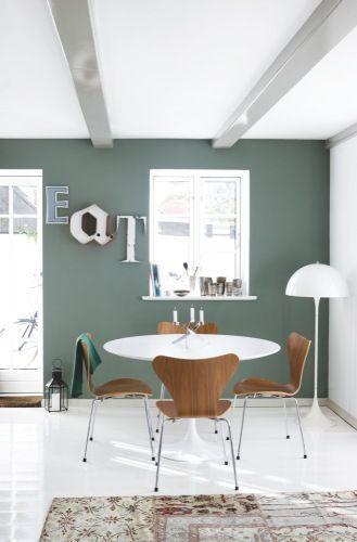 mur vert de gris