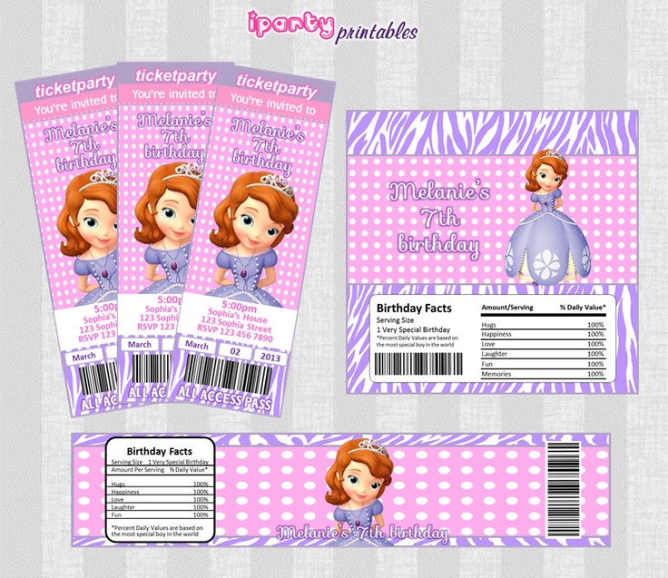 Sofia The First Party Invitations is great invitation template
