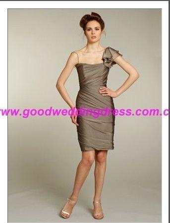 one-shoulder bridesmaid dress