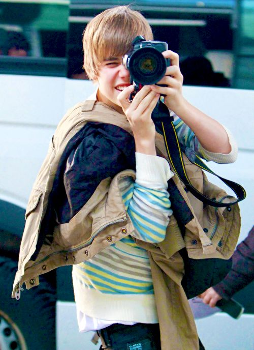 my baby taking pictures of the paps