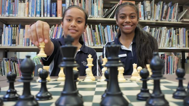Sisters Imogen and Nicole Vea are following in their older siblings' footsteps, taking part in a national chess ...