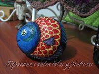Pez Azul-Roja