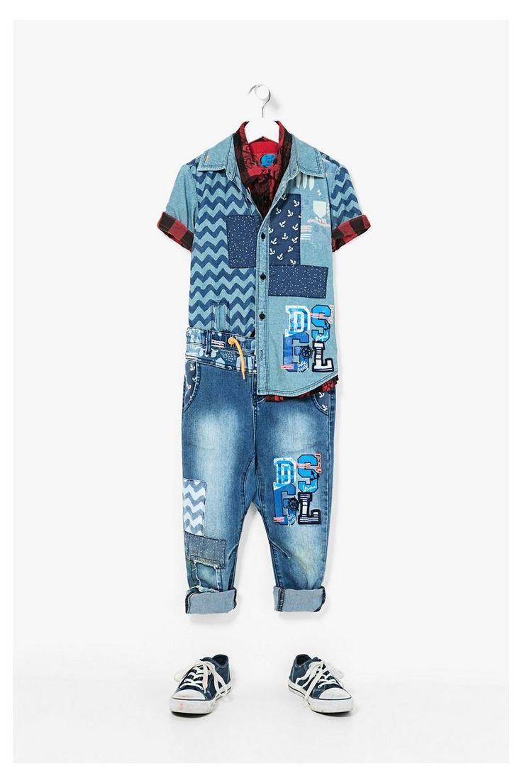 Pantalones Desigual denim Red #circulogpr #desigual #fashion #modainfantil