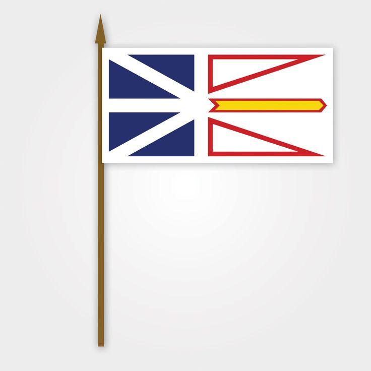 Cet est le drapeau de la Terre-Neuve-et-Labrador. (Maxden)