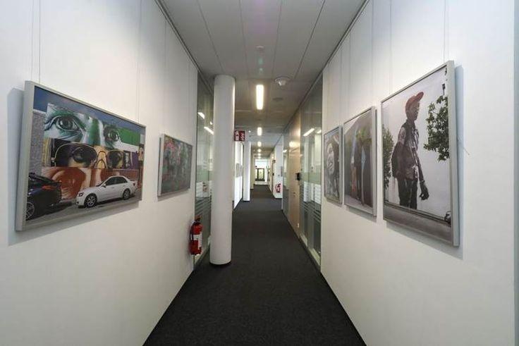 Bosch Ausstellung zeigt Fotografien der Wynwood Walls von Rainer Horn, gerahmt in HALBE-Rahmen.