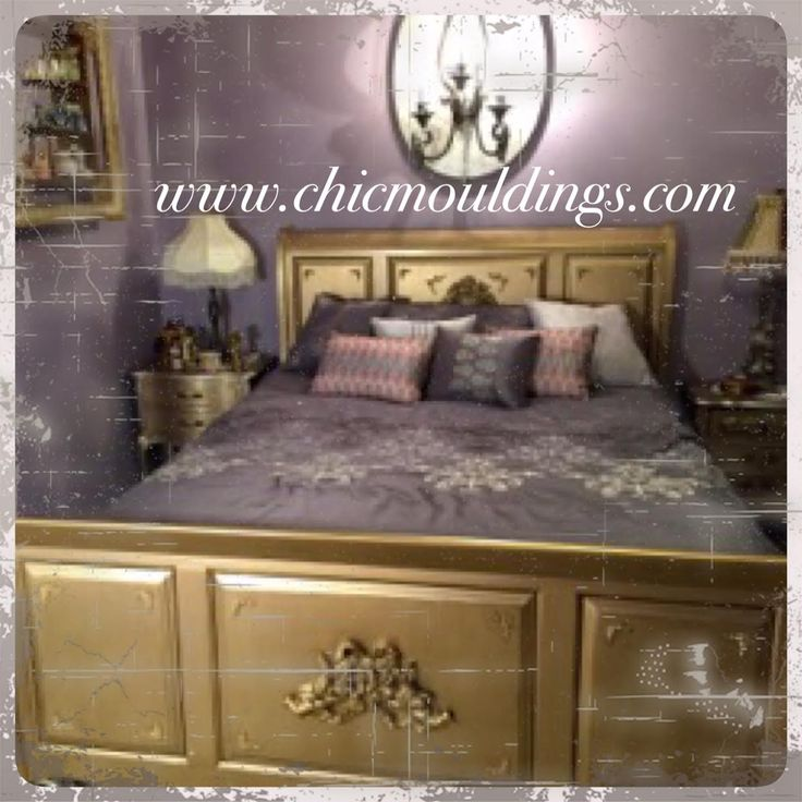 Using One Of Our Largerst Cherub Chic Mouldings Debora S Bed Makeover Is Just Divine Headboard Ideasbed Headboardscherubmoldings3 4