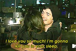 Lucy Hale and Ian Harding. Ian gettin punk'd by lucy Haha!