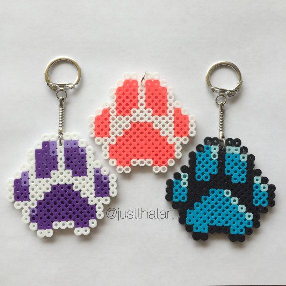 19 Awesome paw print perler beads images