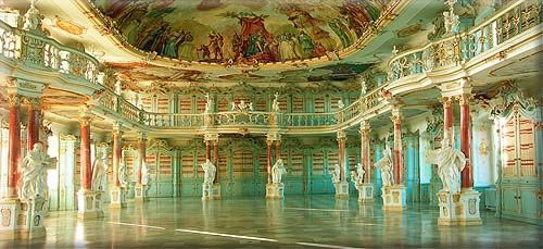 Library of the Shussenried Monastery in Upper Swabia, Germany--about 150 miles from Frankfort.