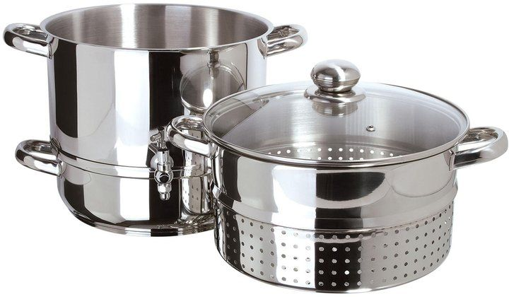Euro Cuisine Stove Top Steam Juicer - Stainless Steel - 8 QT - $99.95