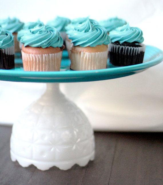 Cupcake Stand for Wedding Cupcakes / Turquoise by The Roche Studio, www.TheRocheStudio.com