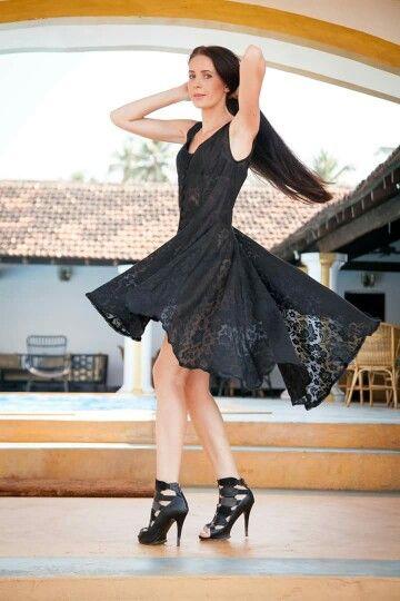 Cotton-net dress...