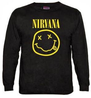 Camiseta Nirvana Manga Larga. Camiseta de manga larga. 100 algodón, 180 grm2, costuras reforzadas y mangas acabadas en puños.
