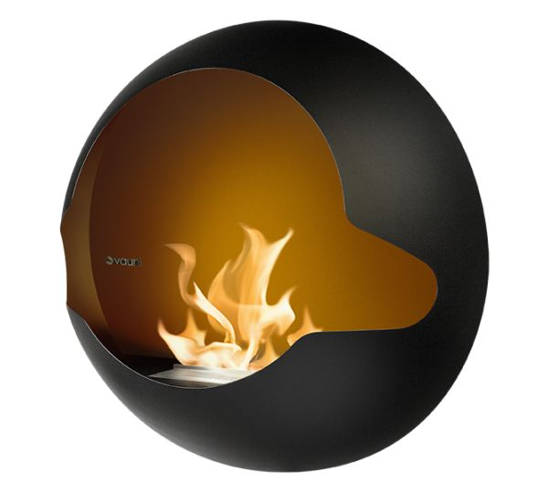 Vauni Cupola black Test Ethanol-Kamin