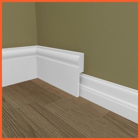 Our Torus skirting board cover (skirting over skirting) made from MDF, can help you easily modernise your skirting board.