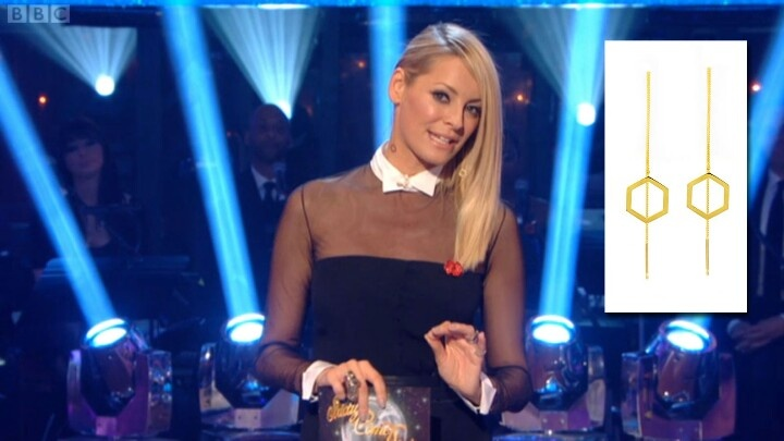 Tess Daly wearing the Promise Thread Through Earrings on Strictly Come Dancing!