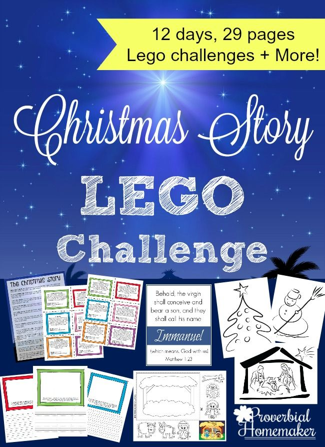 Christmas Story Lego Challenge - http://www.proverbialhomemaker.com/christmas-story-lego-challenge.html