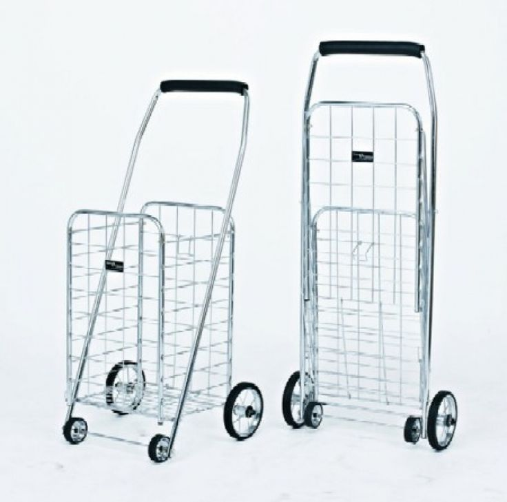Metal Shopping Cart With Wheels