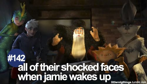#142 - all of their shocked faces when jamie wakes up