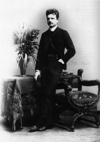 Jean Sibelius as a fashionable man-about-town   in Berlin c. 1890.  (Grundner, Alb., Berlin. Otava picture archive.)