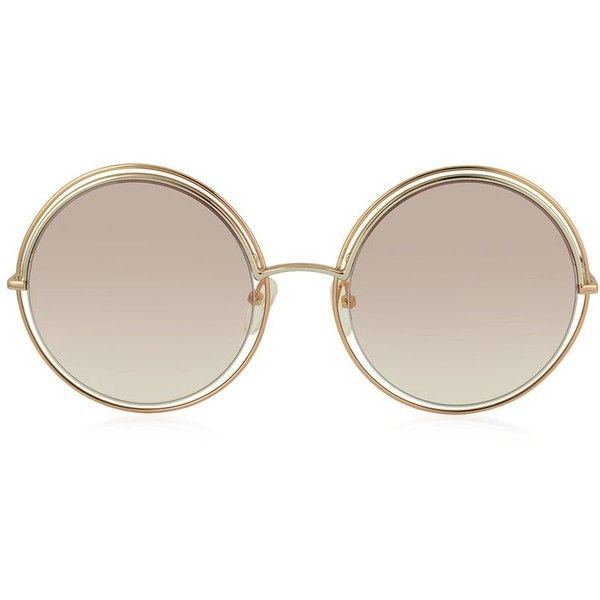 Marc Jacobs Sunglasses MARC 11/S Metal & Acetate Round Oversized... (6.198.940 VND) ❤ liked on Polyvore featuring accessories, eyewear, sunglasses, oversized round glasses, round rim sunglasses, round glasses, rounded sunglasses and oversized sunglasses