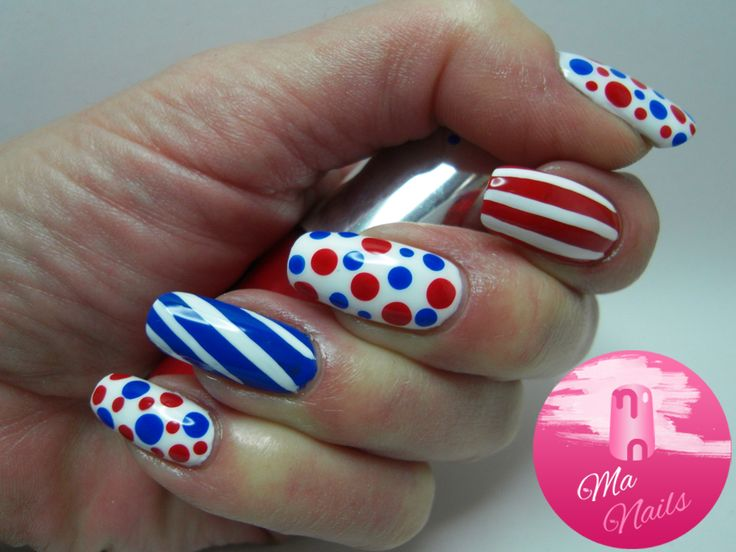 Red White And Blue Nails Ma Nails Nail Art 4th Of July And Usa