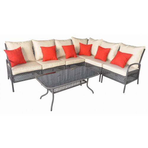 Andrews 7 Piece Outdoor Sofa Sectional Set, Seats 6: Patio Furniture :  Walmart