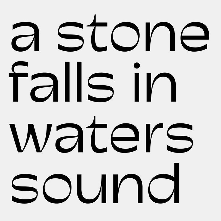 A stone falls in waters sound.  #haikou #poetry #lettering #typedesign #ahouai #research #commeça