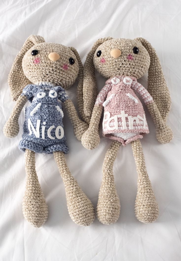 Free crochet pattern (bunny) ~ this duo is really cute!
