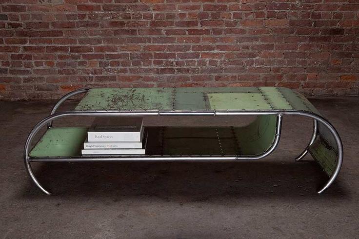 Repurposed Sheet Metal Coffee Table Recycled Material