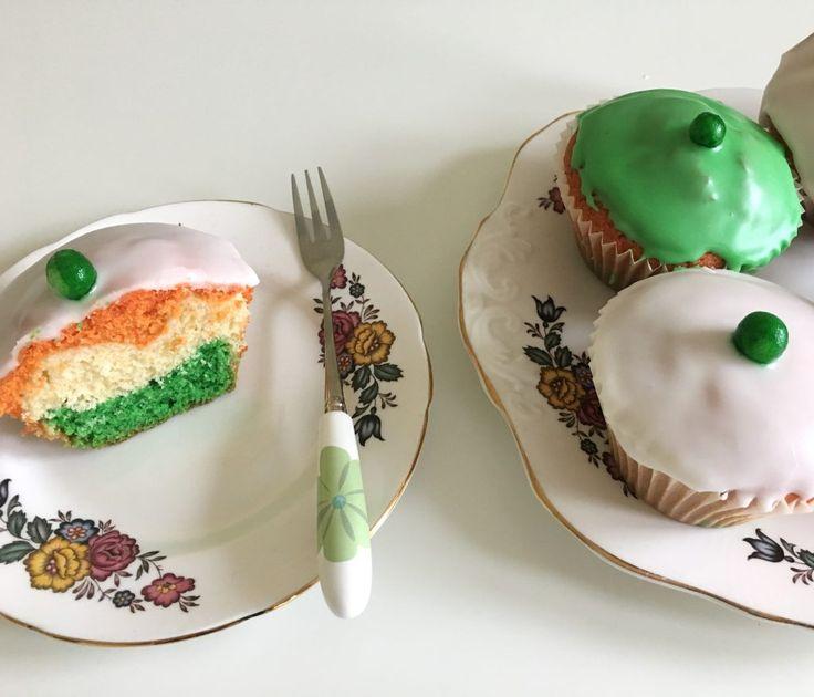 Irish flag fairy cakes