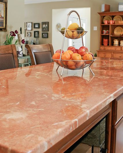Lovely Pink Kitchen Counters | Pink Marble Countertop